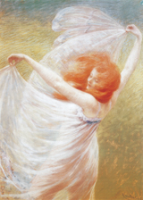 Dancing Woman With Red Hair (Women Art Prints)