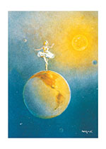 Dancing Atop the Globe (Fairyland Fairies Greeting Cards)