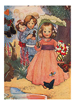 Children In The Garden (Birthday Greeting Cards)