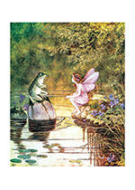 Frog & Fairy Talking (Ida R. Outhwaite Fairies Greeting Cards)