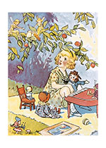 Marcella Playing the Piano for Raggedy Ann and the Fairies (Storybook Classics Art Prints)
