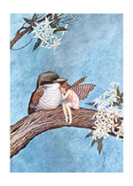 A Fairy and a Bird Embracing (Ida R. Outhwaite Fairies Greeting Cards)