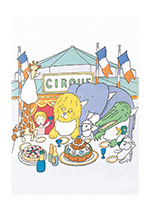 Circus Birthday Party (Animal Friends Animals Art Prints)