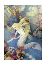 Mermaid of the Deep (Mermaids Greeting Cards)
