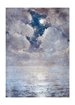 Cloudy Night With Moon (Sympathy Greeting Cards)