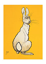 Alert Rabbit (Animal Friends Animals Art Prints)