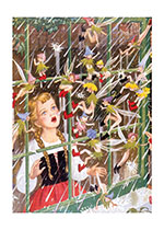 Fairies at the Window (Children & Fairies Art Prints)