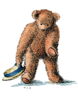Teddy Bear Bowing (Teddy Bears Art Prints)