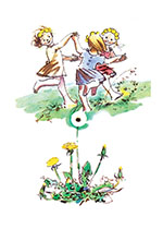 Dancing In the Meadow (Girls Children Greeting Cards)