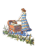 Mother With Carriage (Baby Art Prints)