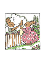 Bunnies With Baby (Baby Art Prints)