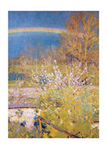 Rainbow Over Trees (Sympathy Greeting Cards)