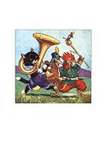 A Cat Playing the Tuba and Friends (Captivating Cats Animals Greeting Cards)