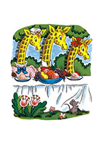 Three Giraffes Birthday (Birthday Greeting Cards)