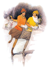 Ice Skating on a Winter's Day (Women Greeting Cards)