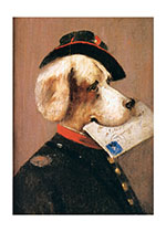 Postman Dog (Delightful Dogs Animals Art Prints)