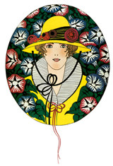 Woman in Yellow Hat (1920s Fashion Fashion Art Prints)