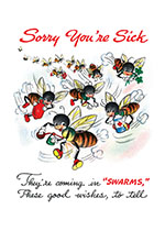 Bees Bearing Good Wishes (Get Well Greeting Cards)