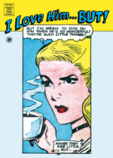 I Love Him ... BUT! (Romance Comics Graphic Design Greeting Cards)