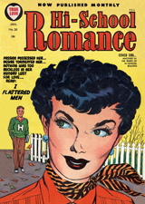 Hi-School Romance (Romance Comics Graphic Design Art Prints)