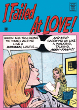 I Failed at Love! (Romance Comics Graphic Design Greeting Cards)