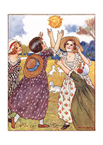 Autumn Dance (Girls Children Greeting Cards)
