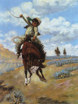 Ride 'Em Cowboy (Boys Children Greeting Cards)