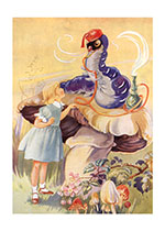 Alice and the Caterpillar (Friendship Greeting Cards)