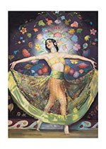 Dancing Woman (Birthday Greeting Cards)