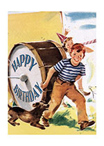Boy and Drum (Birthday Greeting Cards)