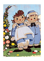 Raggedy Ann and Andy Say 'Hello' (Dolls Art Prints)