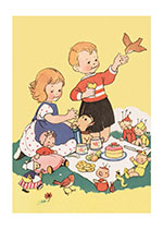 Tea Party With Dolls (Children's Playtime Children Greeting Cards)