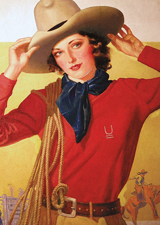 A Fetching Cowgirl (Women Art Prints)