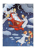 Baby in Sky B (Baby Greeting Cards)
