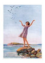Hello to the Birds! (Girls Children Greeting Cards)