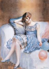 Young Woman at a Party (Women Art Prints)