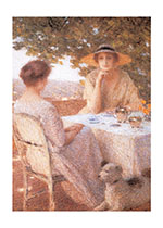 Tea On The Terrace (Women Greeting Cards)