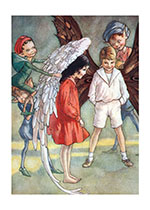 Fairy Children Receiving Their Wings (Children & Fairies Art Prints)