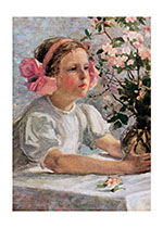 A Very Young Florist (Girls Children Greeting Cards)