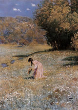 Picking Wildflowers (Women Art Prints)
