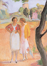 Two Women Walking (Women Greeting Cards)