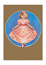 A Curtsy For You (Girls Children Greeting Cards)