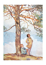 Children Beneath a Glorious Tree (Children's Playtime Children Greeting Cards)