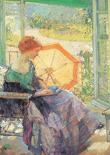 At A Sunny Window (Women Art Prints)