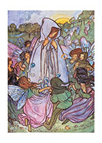 Surrounded By Fairies (Children & Fairies Greeting Cards)
