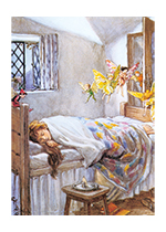 A Bedtime Visit From the Fairies (Children & Fairies Art Prints)