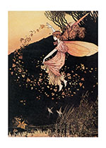 A Fairy Scattering Leaves (Birthday Greeting Cards)