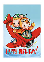 Littlest Pilots (Birthday Greeting Cards)