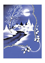 An Icy Blue Winter Night (Many More Christmas Greeting Cards)