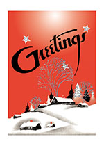 Greetings A Red Snowscape (Many More Christmas Greeting Cards)